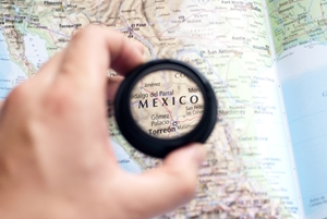 Graphic with map of Mexico--AML and Financial Crimes blog story