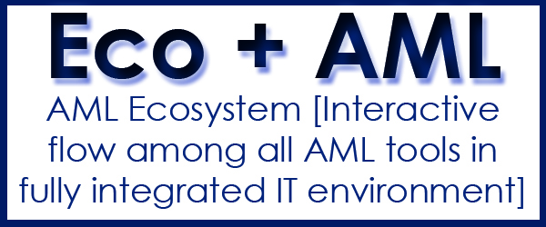 AML software solution in ecosystem environment