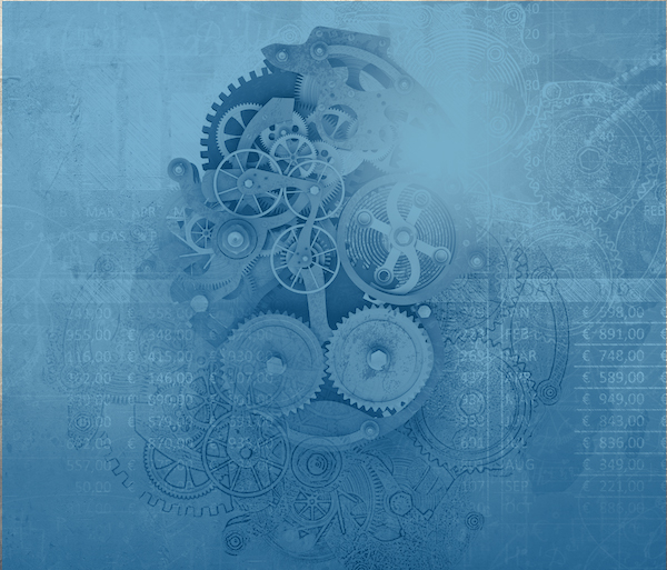 Art image of mechanical gears--metaphor for strategic partnership and tech integrations