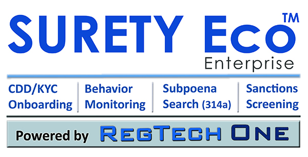 SURETY Eco powered by the RegTech One platform--for AML Compliance
