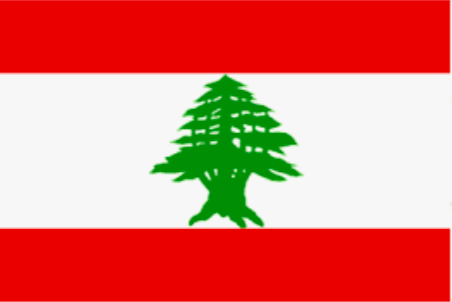 Image shows flag of Lebanon