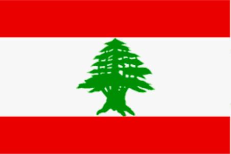 Image shows flag of Lebanon