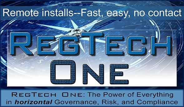 RegTech One logo art